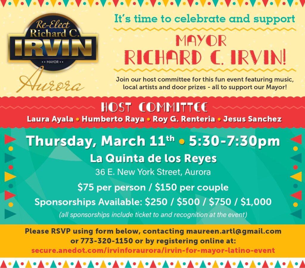 Irvin For Mayor Latino Event