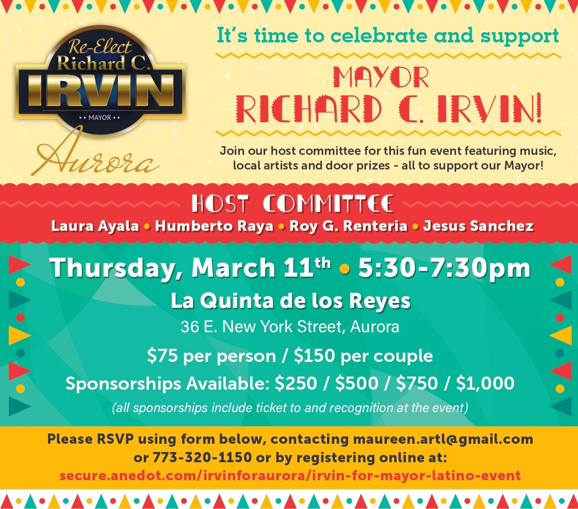 Irvin For Mayor Latino Event